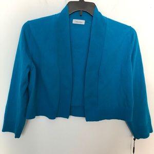 Calvin Klein 3/4 sleeve shrug cardigan sweater NWT